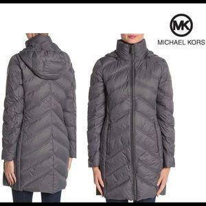 Michael Kor long down parka jacket